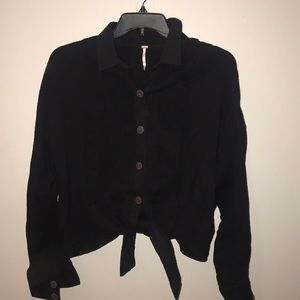 Free People long sleeved  button down sweater